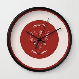 Deadlift Romantic Wall Clock