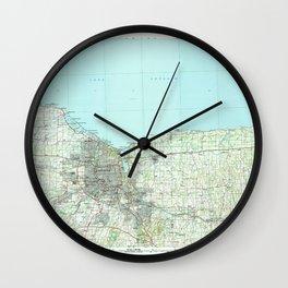 NY Rochester 136864 1984 topographic map Wall Clock