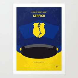 No891 My Serpico minimal movie poster Art Print
