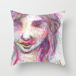 Rainbow Rhonda Throw Pillow