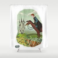 prince Shower Curtains featuring Prince by David Pavon