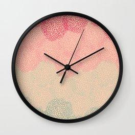 Sorbet Chrysanthemum  Wall Clock