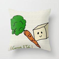 {Carrots & Tofu} Throw Pillow