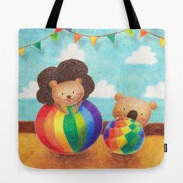 hug a rainbow Tote Bag