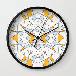 Abstract Retro Colored Church Window Wall Clock