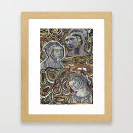 Faces in History Framed Art Print