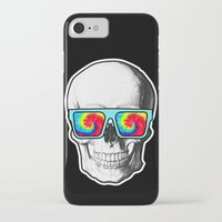 psychadelic iPhone & iPod Cases featuring Psychadelic Skull Tiedye glasses by Chara Chara