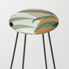 Abstract Art Tropical Leaves 4 Counter Stool