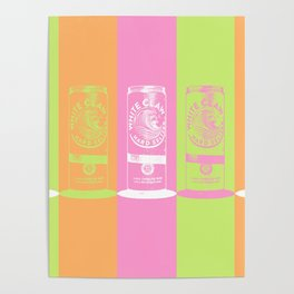 All the Colors of the White Claw - Pop Art Poster