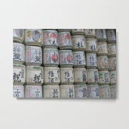 99 Barrels of Sake on the Wall... Metal Print