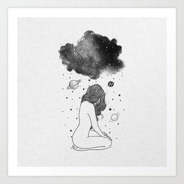 I prefer night. Art Print