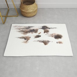The Shadow Moon - 151124  Abstract Watercolour Rug
