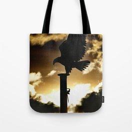 Golden Eagle Sunset Tote Bag