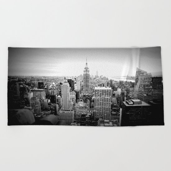 New York City Black & White Beach Towel