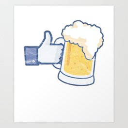BEER- I Like Beer T Shirt Art Print