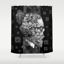 hipster floral skull 2 Shower Curtain
