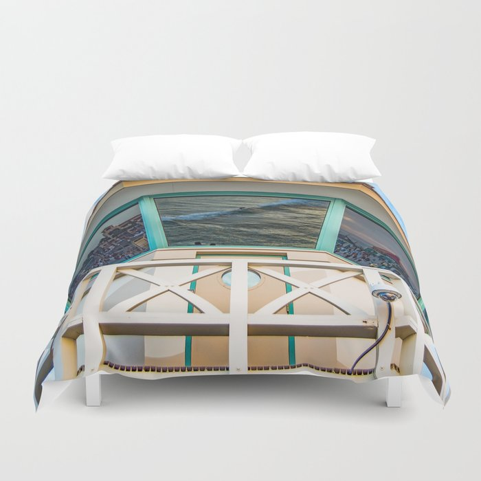Surf City Reflects  Duvet Cover