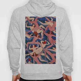 Emanuel Frinta, Bez názvu,1920 Nude Women Pattern Watercolor Pattern Hoody