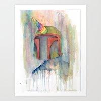 boba fett Art Prints featuring Boba Fett by Emerald Barkley