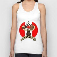 canada Tank Tops featuring CANADA by scarah