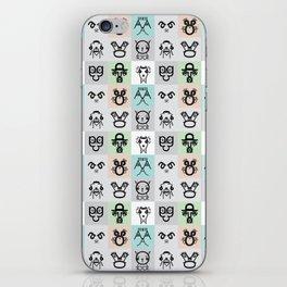 Typographic Characters iPhone Skin