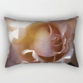 Expectant Apricot Rose Rectangular Pillow
