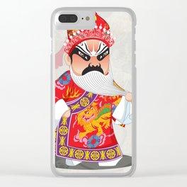 Beijing Opera Character LianPo Clear iPhone Case