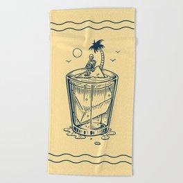 Drink Alone, Sink Alone Beach Towel