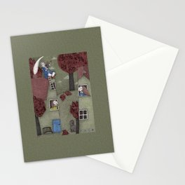 Rooftop Concert Stationery Cards