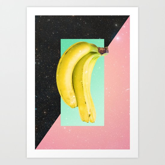 Eat Banana Art Print