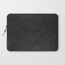 Black Asphalt Background Texture Laptop Sleeve