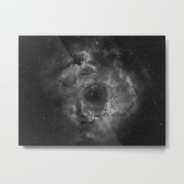 Stars and Space Dust B&W Metal Print