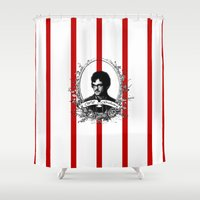will graham Shower Curtains featuring Will Graham by JM London