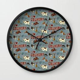 I Love Country Wall Clock