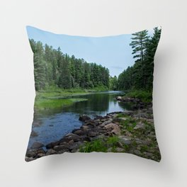 Boundary Waters River Throw Pillow
