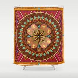 Mandala Esmeralda Shower Curtain