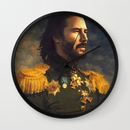 Keanu Reeves Poster, Classical Painting, Regal art, General, John Wick, Matrix, Actor Print Wall Clock