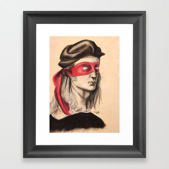 Raph TMNT Framed Art Print