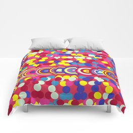 Bright Circles and Dots Comforters