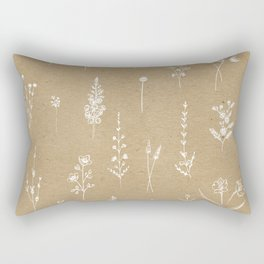 Wildflowers kraft Rectangular Pillow