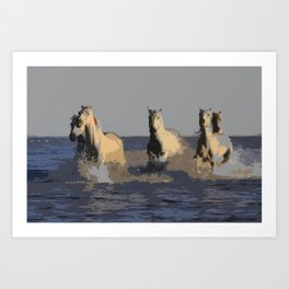 Horses of the Sea - Wild Horses Art Print