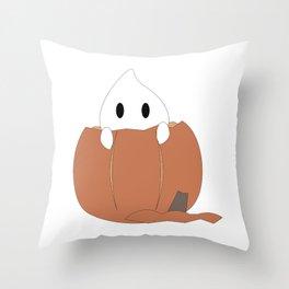 Peekaboo Ghost Throw Pillow