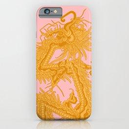 Quetzalcoatl Gold/Pink iPhone Case