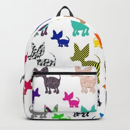 colorful chihuahuas on parade  Backpack