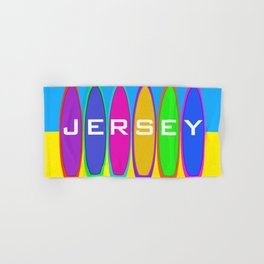 Jersey Surfboards on the Beach Hand & Bath Towel