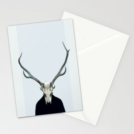 Living Skull and Horns Stationery Cards