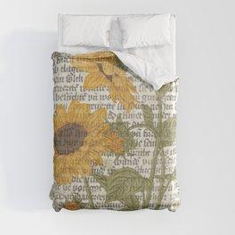 Sunflower Print Duvet Cover