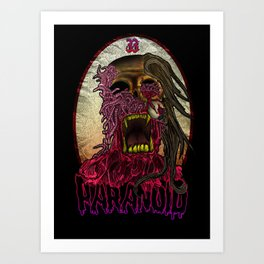 PARANOID TSHIRT Art Print