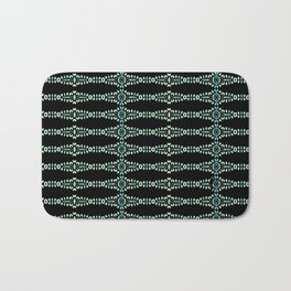 Hand Painted Beaded Turquoise Bath Mat