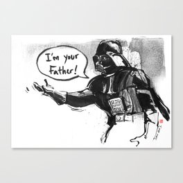 May The Force Be With You-Darth Vader Canvas Print